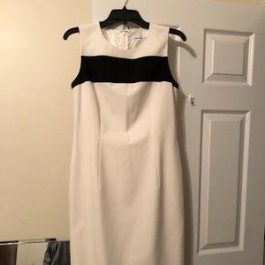 Calvin Klein cream and black dress